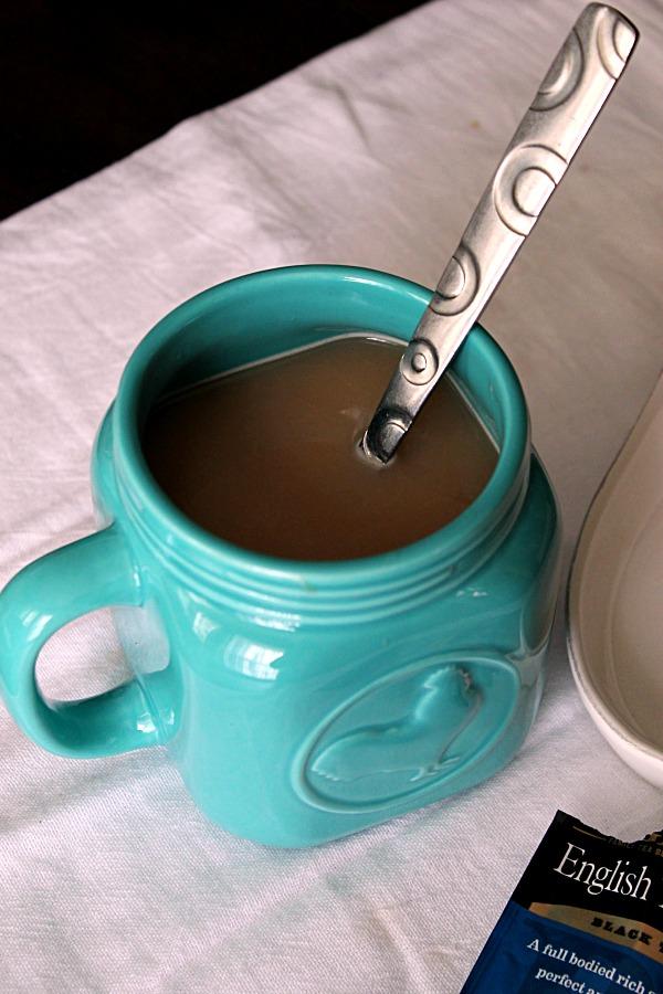 English Tea with milk   #CollectiveBias #AmericasTea #BigelowVIP