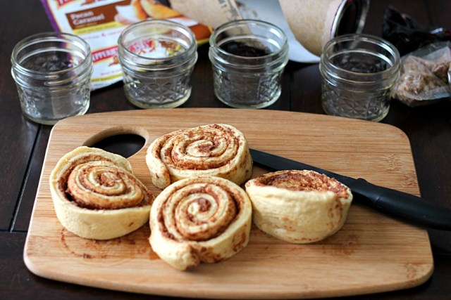 Cut up sweet rolls #WarmUpYourDay #CollectiveBias
