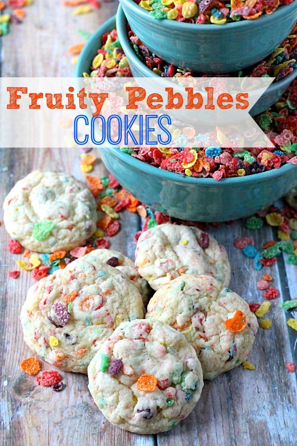Fruity Pebbles Cookies, yum!