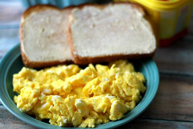 Fluffy Eggs Made With I Can't Believe It's Not Butter