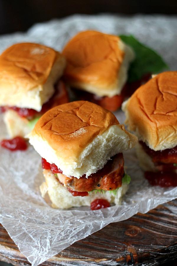 Cranberry Pork Sliders