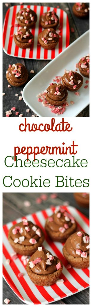 Chocolate Peppermint Cheesecake Bites
