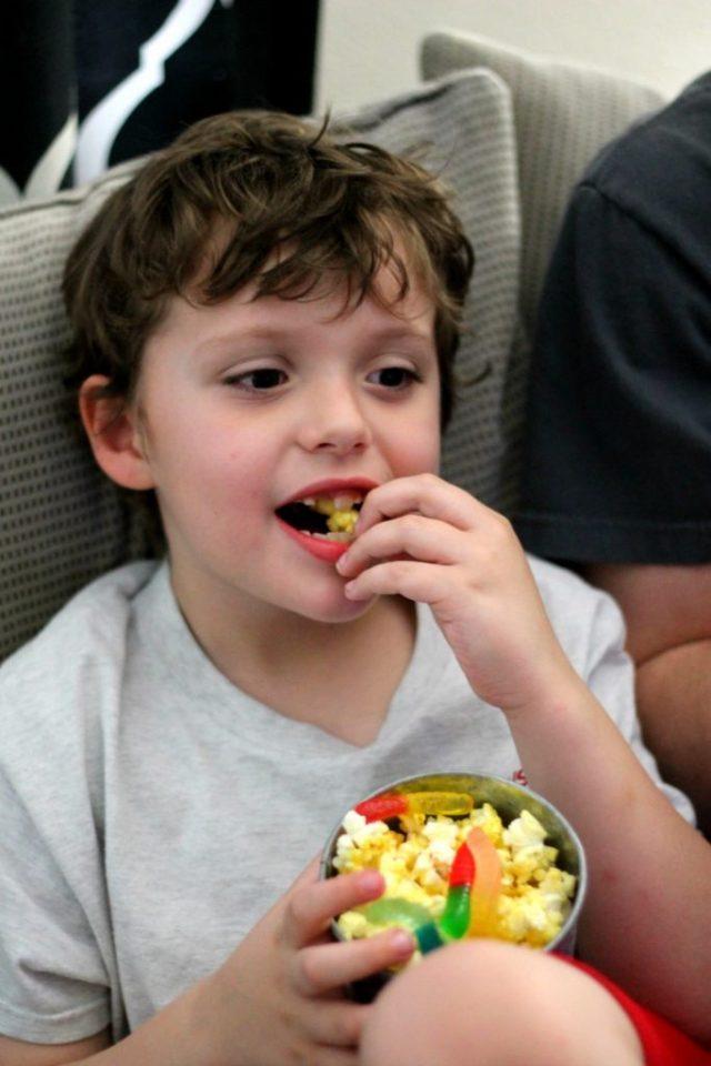 Dean loves popcorn