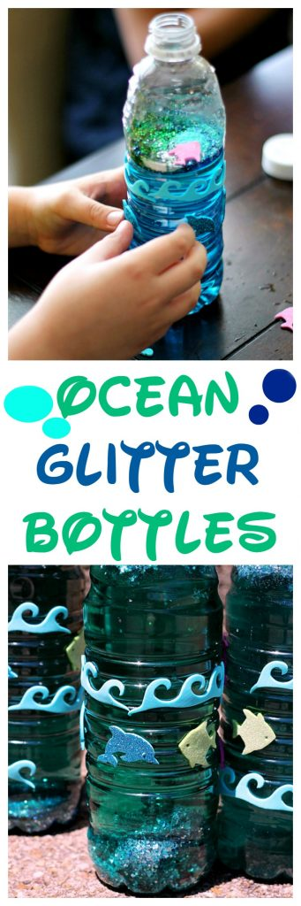Ocean Glitter Bottle, soo cool!