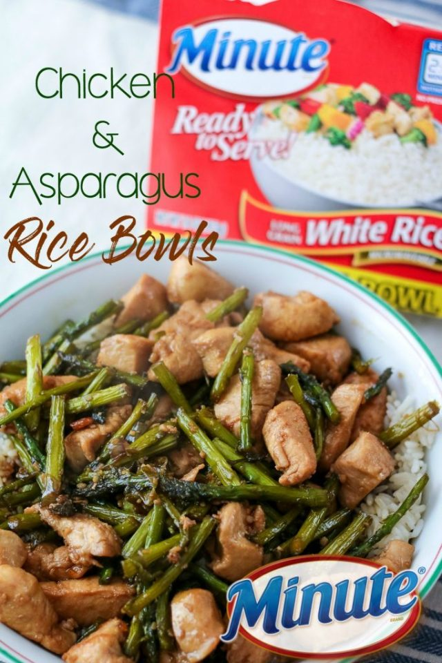 Chicken and asparagus Minute Family Rice Bowls, yum!