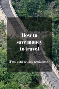 How to holiday when you have no money. Choices you need to make to make your dreams a reality.