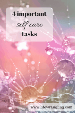 The importance of scheduling time for self care.