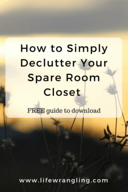 Declutter your spare room closet