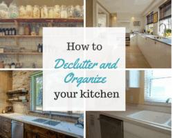 declutter the kitchen