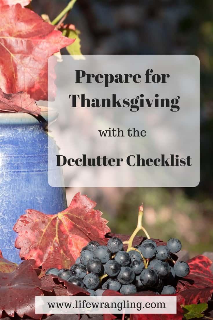 Thanksgiving Declutter Checklist