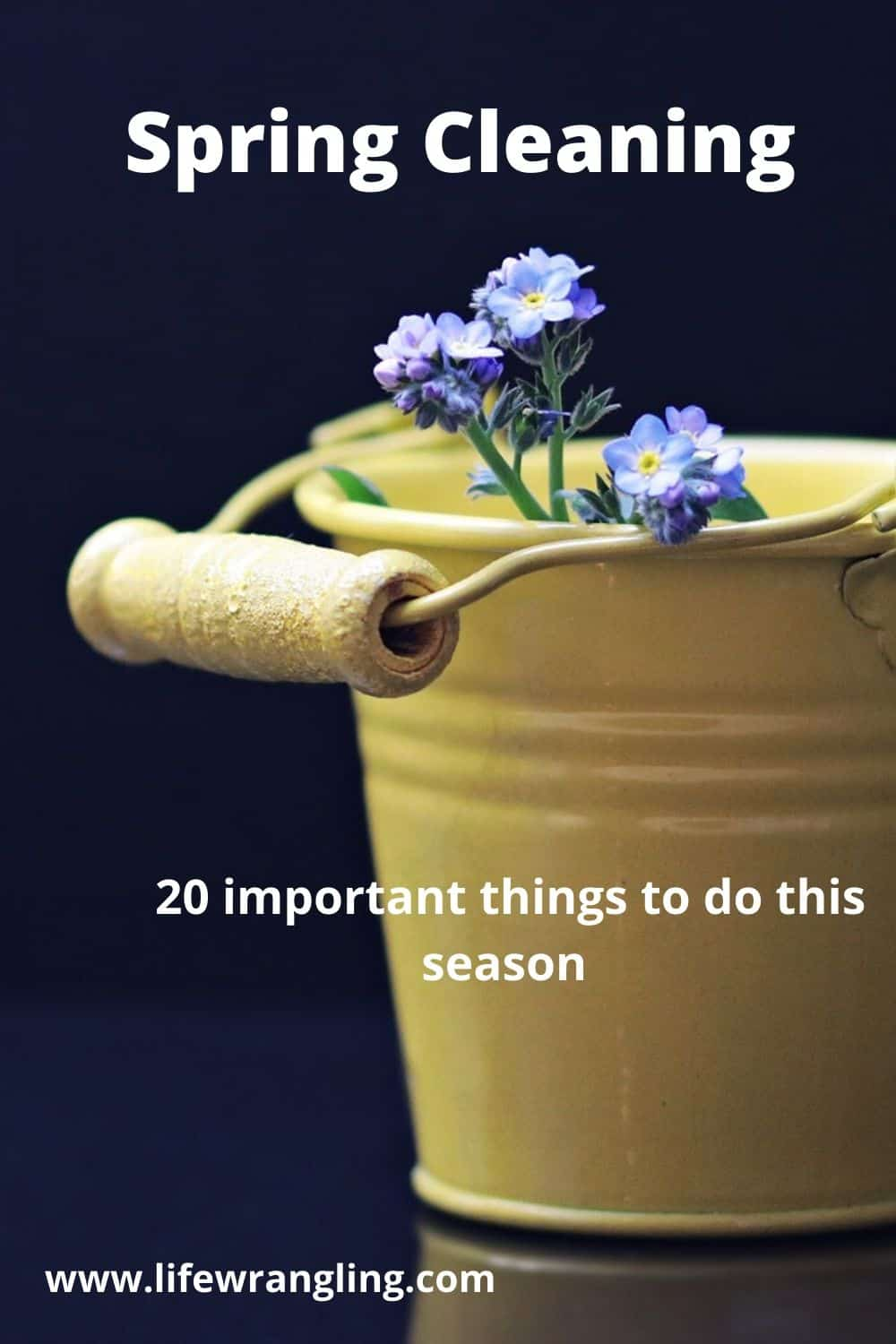 Spring Cleaning. Clean these 20 things simply and easily. #springcleaning
