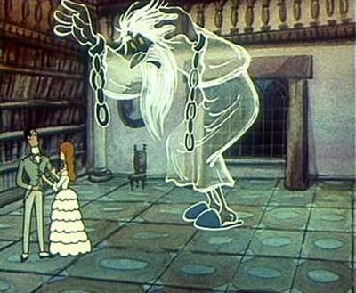 Фрагмент из мультфильма «Кентервильское привидение»