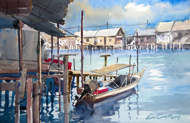 Khor Ean Ghee Singapore Penang Watercolour Paintings