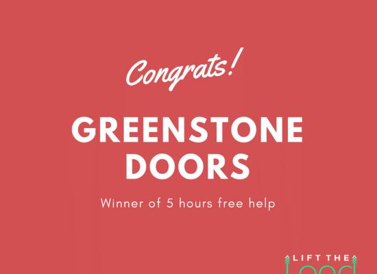 Congratulations to Greenstone Doors winner of 5 hours free help