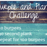 Burpee and Plank Challenge