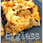 Cheesy Eggless Breakfast Bake