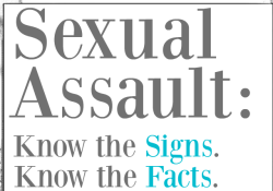 Sexual Assault: Know the Facts, Know the Signs #NOMORE Week