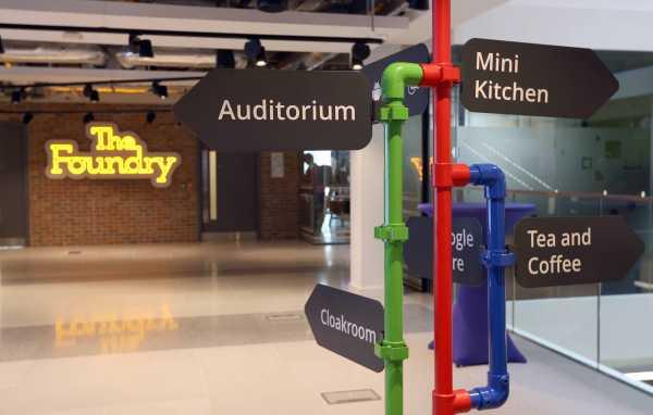Recepción de The Foundry en Dublín, dónde se celebra Google Partners: Accelerate en diciembre de 2014