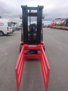 Red Manitou forklift