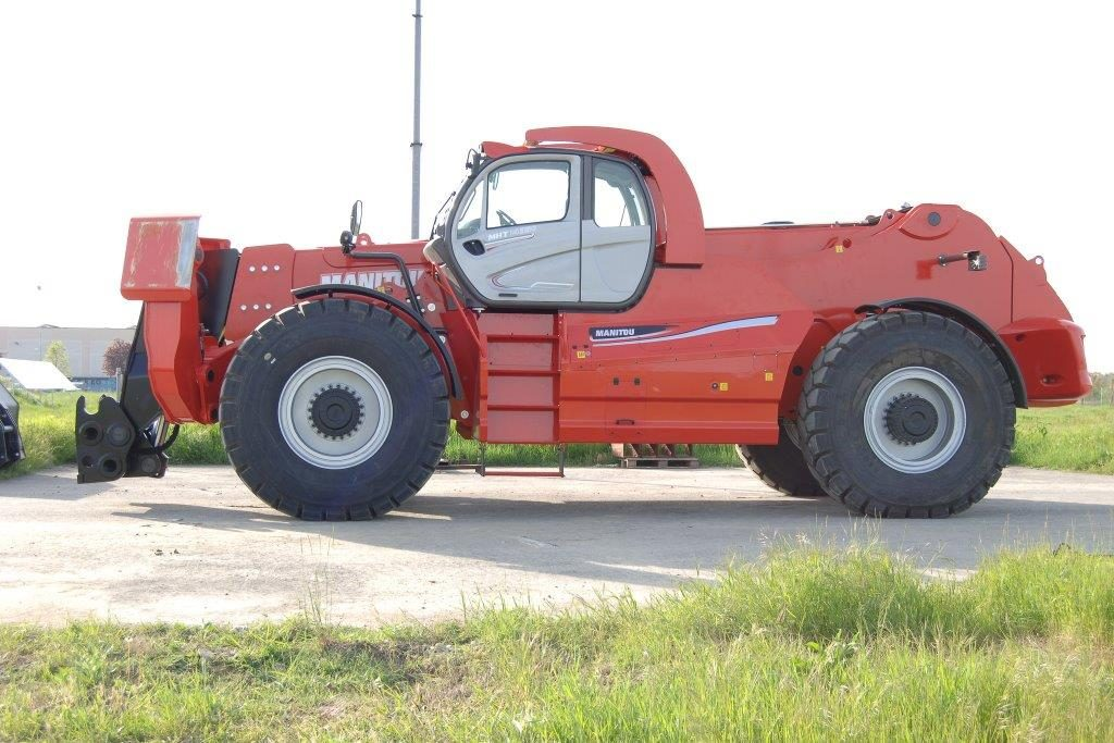Red telehandler