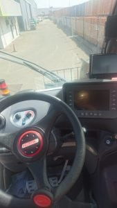Manitou steering wheel