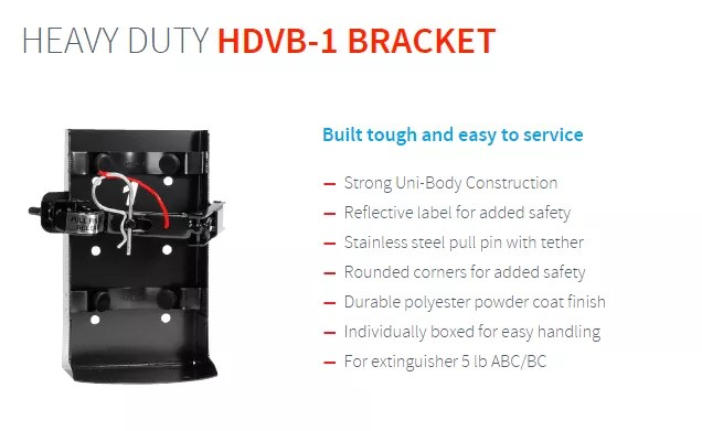 HDVB-1 Fire Extinguisher bracket