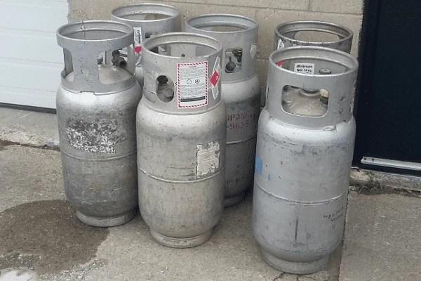 Forklift LP Tanks