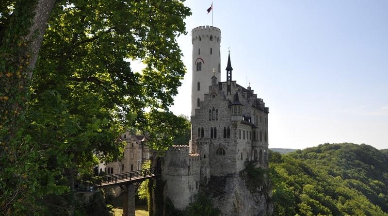 Castelo de Lichtenstein no Estado de Baden-Württemberg na Alemanha