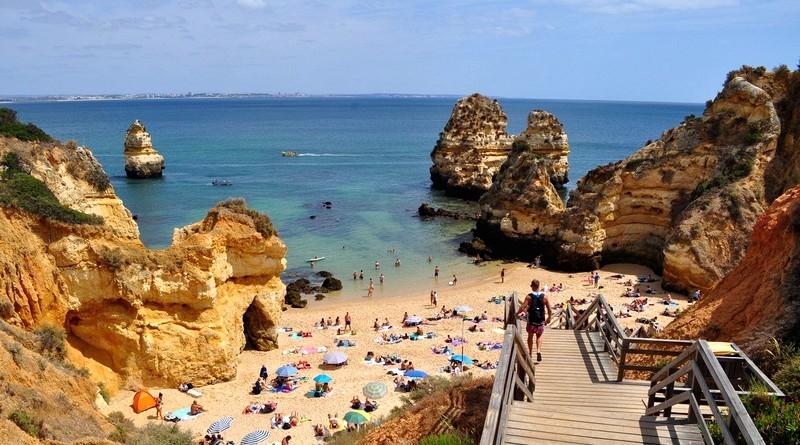 Praia do Camilo em Lagos, Região do Algarve, Portugal