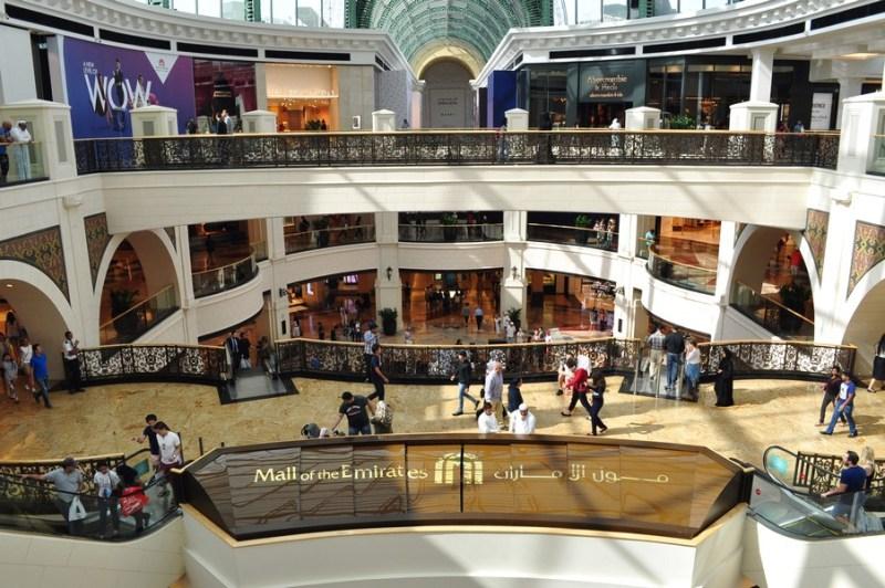 Hotel em Dubai - Passeando pelo Mall of the Emirates no bairro Al Barsha