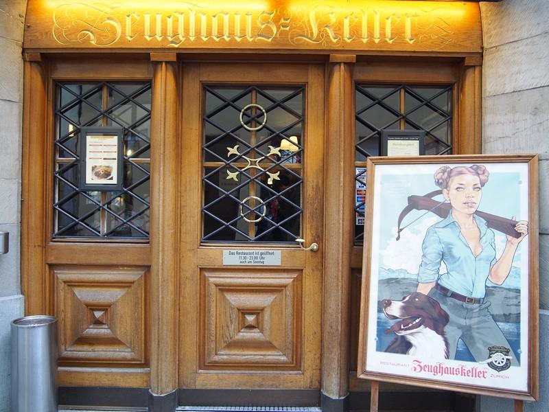 Restaurante Zeughauskeller em Zurique na Suíça - Entrada