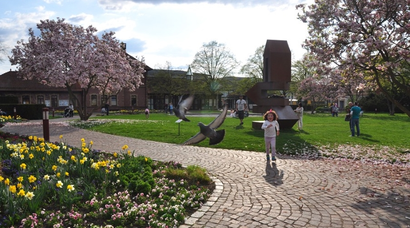 Primavera em Ettlingen na Alemanha