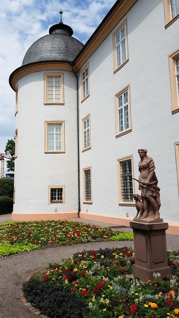 Castelo de Ettlingen Alemanha - Jardim do castelo