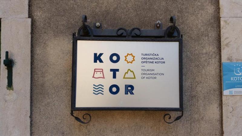 Kotor Montenegro - Placa turística da cidade