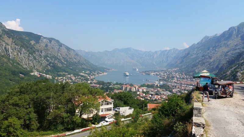 Parque Nacional de Lovcen Montenegro - Vista da Estrada Antiga para o Parque