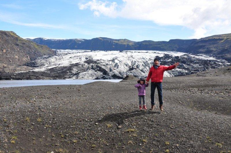 viagem islandia myrdalsjokull - trilha para o glacial