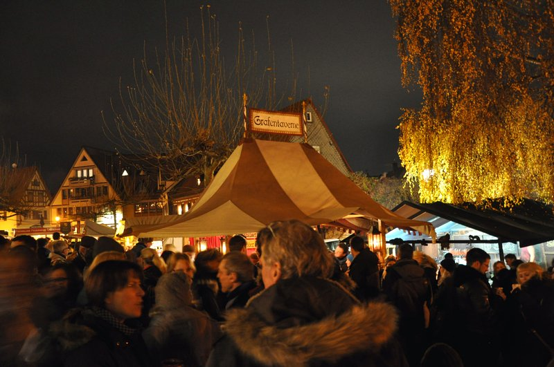 Mercado de Natal de Oberursel na Alemanha - Barracas