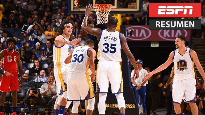 VIDEO: Warriors demuestran su poder ante Clippers