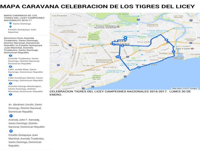Información del Desfile de Los Campeones Nacionales