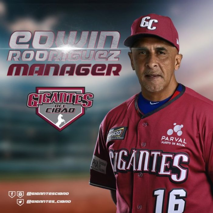 Edwin Rodríguez dirigirá a los Gigantes del Cibao