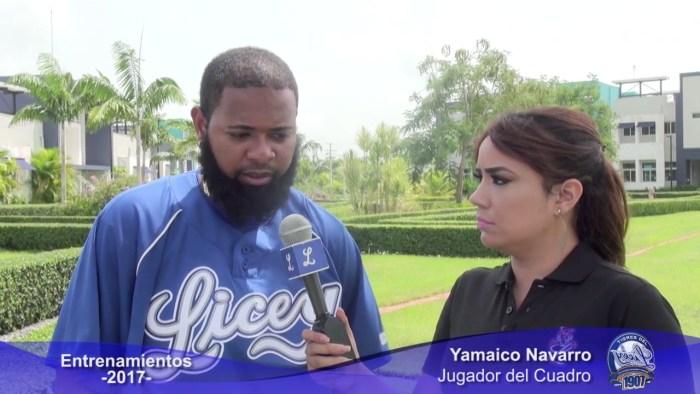 Esmil Rogers y Yamaico Navarro se suman a prácticas del Licey