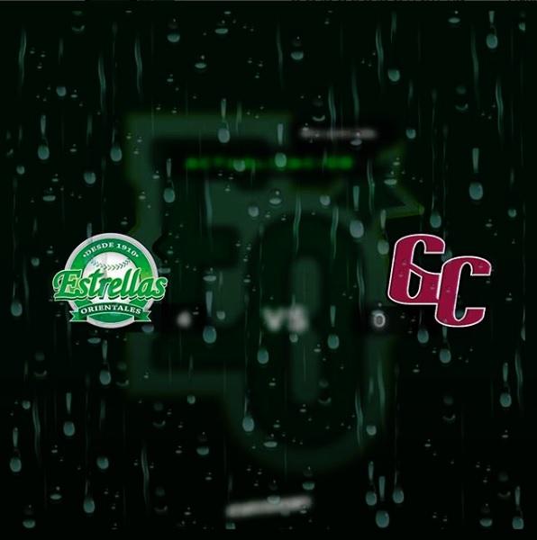 Posponen por causa de la lluvia partido Estrellas-Gigantes