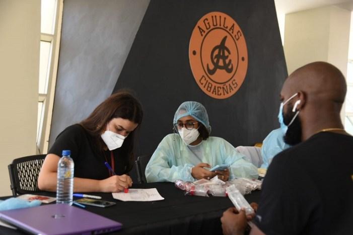 Águilas, Salud Publica y Lidom realizan segunda jornada pruebas COVID-19