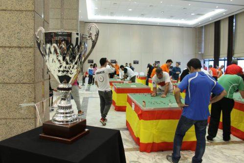 El magestuoso Trofeo de Campeón coronó la celebración del evento