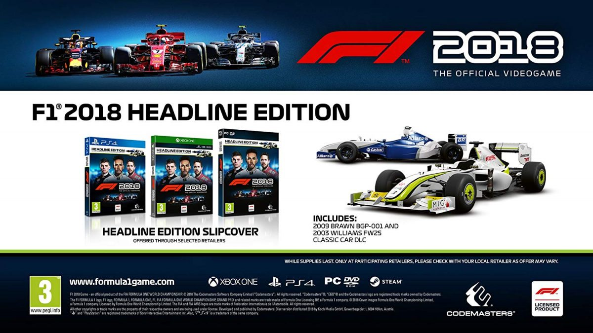 F1 2018 - Xbox One - Codemasters