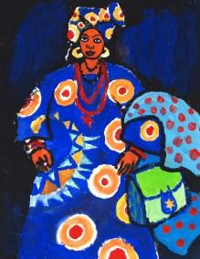 Nigeria blue dress