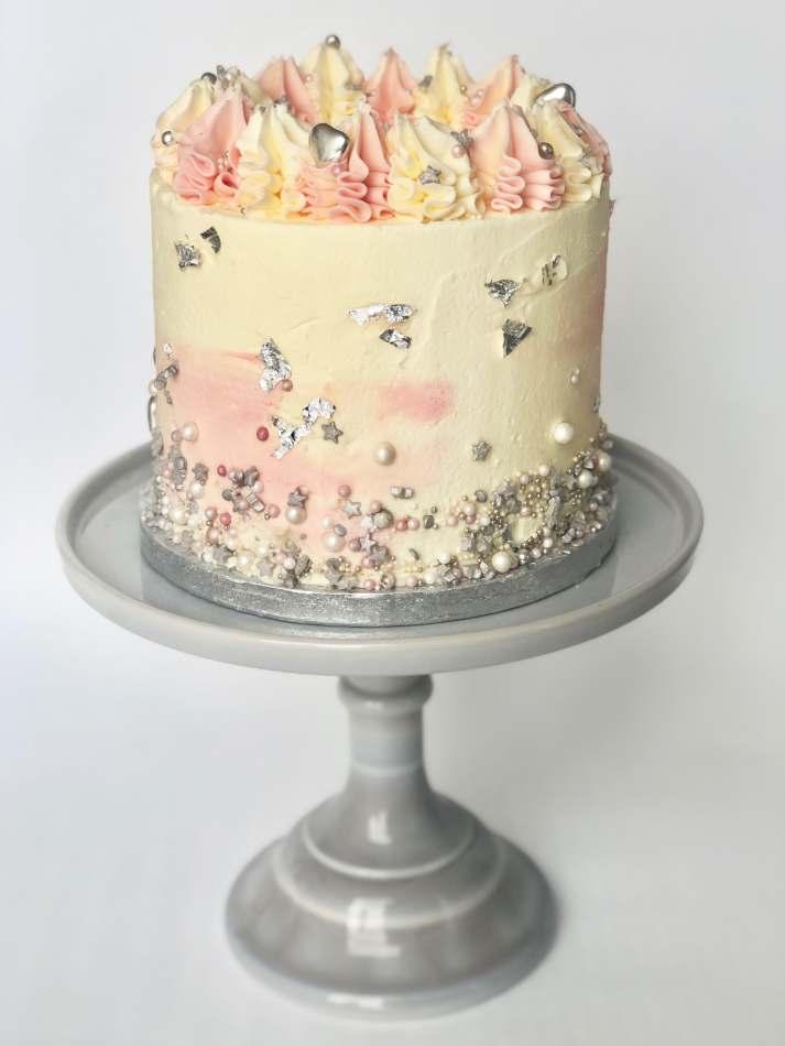 Blush Sprinkles Layer Cake