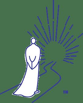 Buddha Consciousness monk on light path logo