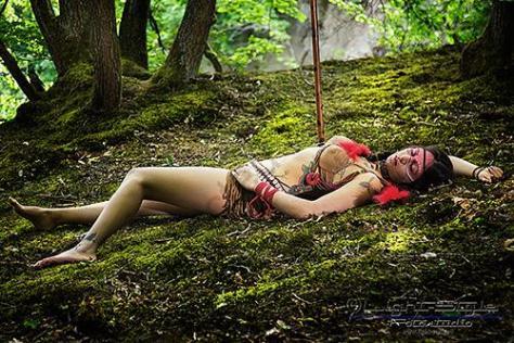 , Pocahontas-Shooting– funny making of, Fotostudio Light-Style`s Blog