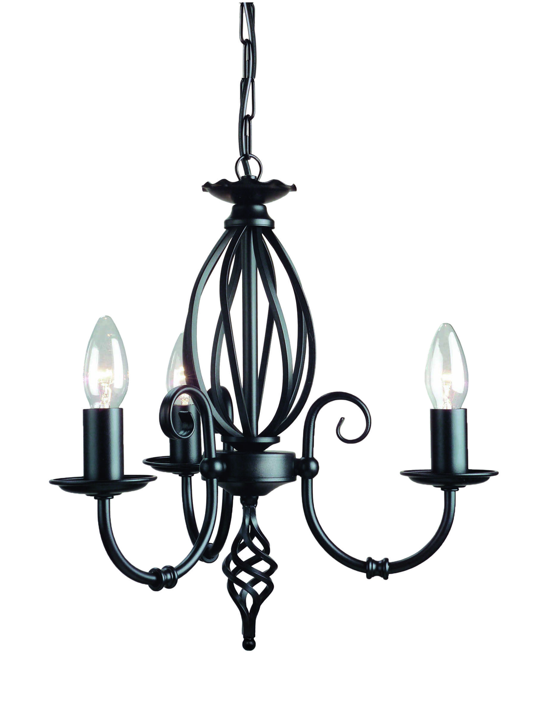 Artisan 3lt Chandelier Black Art3 Black